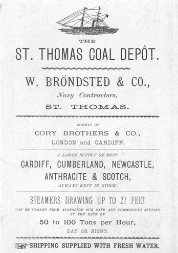 Historic Advertisement featuring Brondsted & Co.