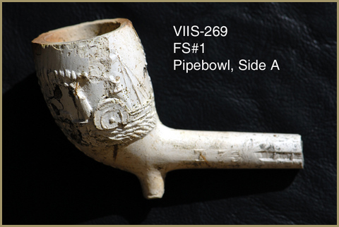 Clay pipe artifact recovered at the site
