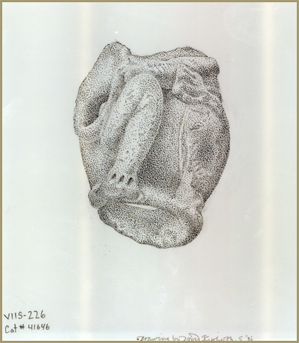 Representation of Zemi face artifact, David Kiphuth, 2006 (similar specimens have been found on Hassel Island)